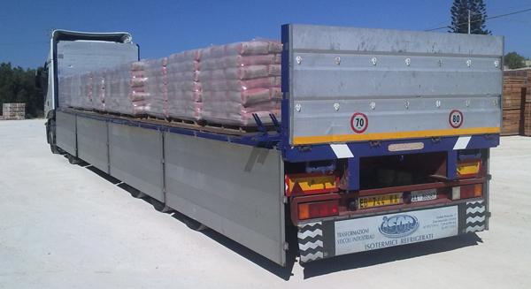 trasporto di materiali edili